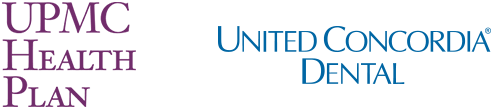 UPMC and United Concordia dental insurance logos