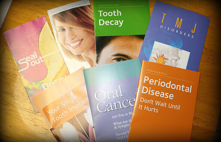 Brochures about oral health