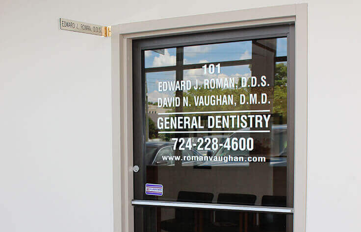 Front entry of dentist's office