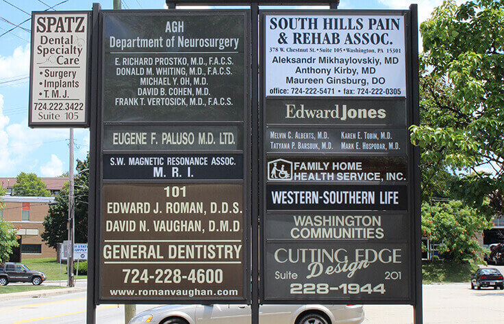 Signs for dental office